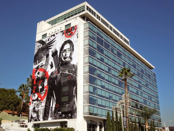 Hunger Games Mockingjay Part I giant billboard