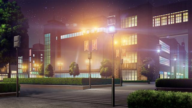 Anime Landscape Building Anime Background