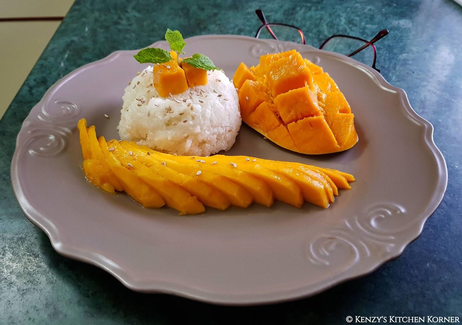 Kenzy S Kitchen Korner Sticky Mango Rice Khao Neow Mamuang Lat Kati