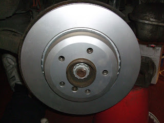 BMW E46 330d rear brake disc