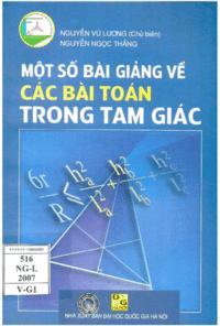 Một Số Bài Giảng Về Các Bài Toán Trong Tam Giác - Nguyễn Vũ Lương