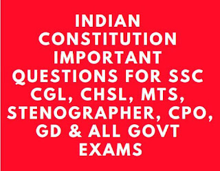 Indian Constitution Previous Year Questions PDF for SSC CGL and CHSL Exams