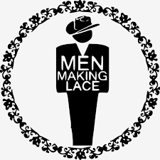 Logotipo do grupo de facebook, Men Making Lace, homes facendo encaixe
