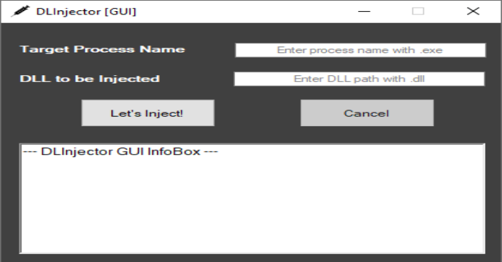 DLInjector-GUI : Faster DLL Injector for Processes
