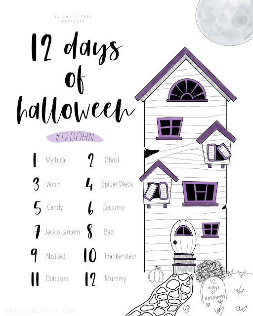25 Sweetpeas 12 Days of Halloween | 2019