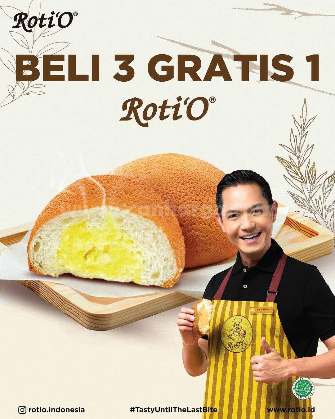 Promo Roti O Spesial Beli 3 Gratis 1 Roti'O Periode 1 - 30 September 2021
