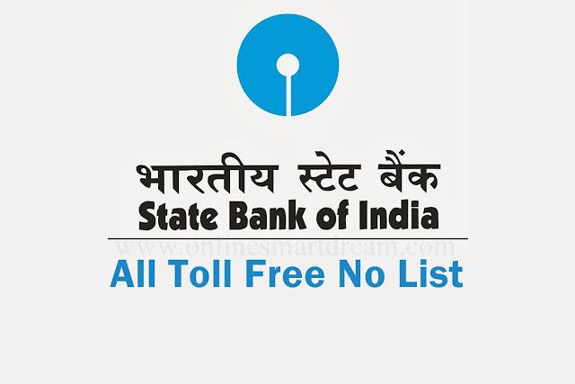 SBI Credit card toll free number