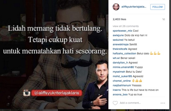 Isu Rumahtangga Dato' Aliff Syukri Didakwa Goyah