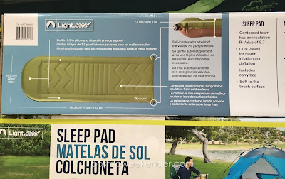 Lightspeed Self Inflating Camp Sleep Pad - a necessity when camping
