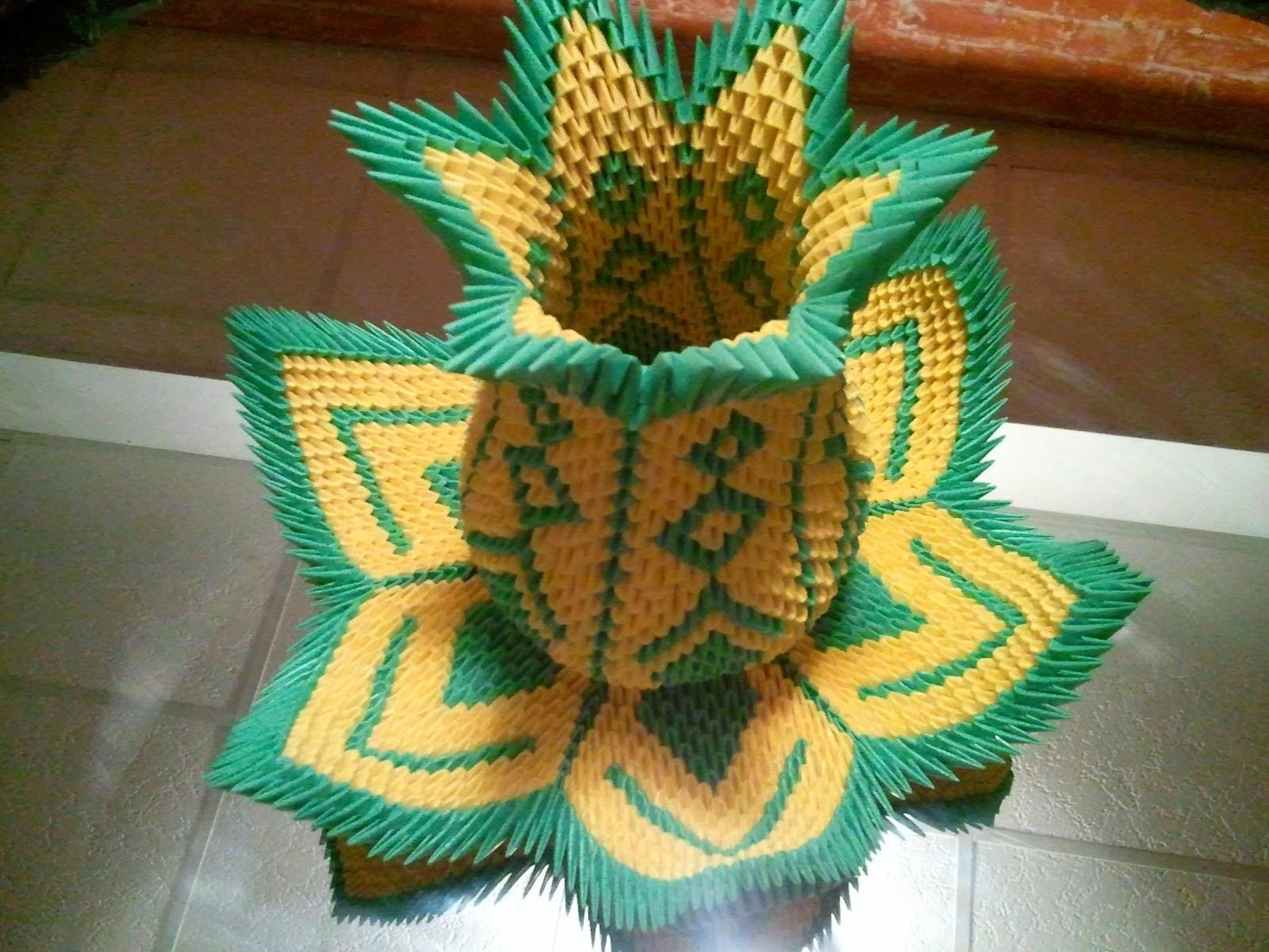 3d Origami Vase Kids Origami Instructions Easy