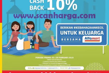 Promo Alfamart Bayar Pakai GoPay Cashback 10% Periode 1 - 28 Februari 2019