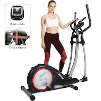 SNODE E20 Elliptical Machine Trainer, entry-level compact elliptical for home use, with Cross Crank for durability and added stability