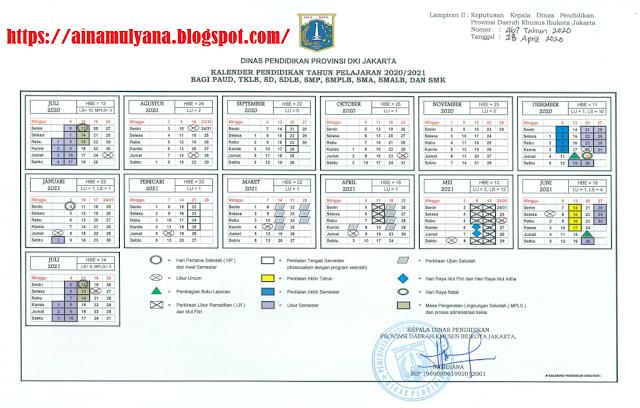 Kalender Pendidikan DKI Jakarta Tahun Ajaran 2020/2021