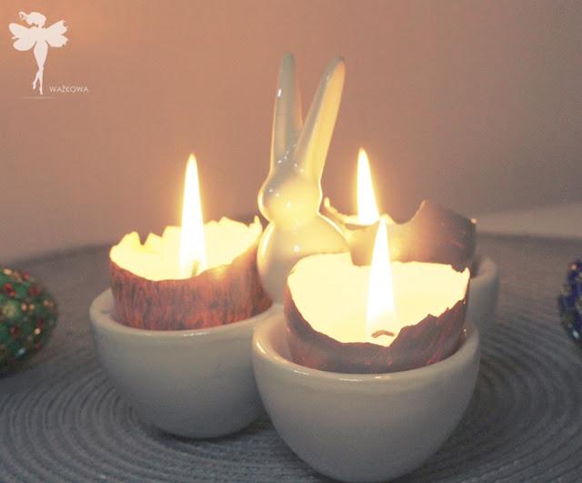 Wielkanocne świeczki w skorupkach
