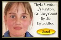 """Baie geluk aan Thyla Strydom van Laerskool Rayton wat 'n A (Goud) gekry het met haar toespraak onder die ATKV se 2013 tema """"Omgewing"""" – en ook volpunte gekry het vir sprekerstalent by die Kungwini Eisteddfod!"""