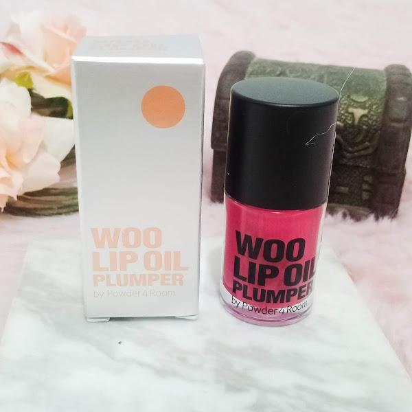 Powder 4 Room Woo Lip Oil Plumper in Lovely Pink