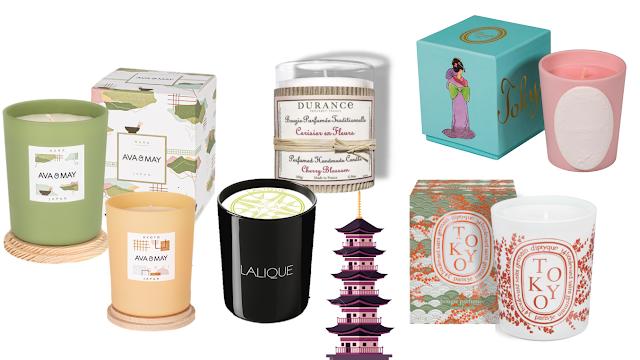 Bougies Japon cadeaux Blog japonais Cosmeto Factory candle ladurée lalique diptyque durance kyoto nara