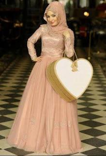 Model Baju Kondangan Muslimah Brokat Satin