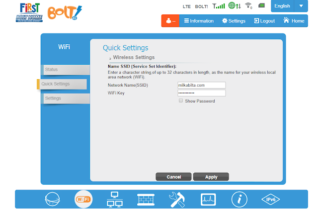 Tips mengganti wifi password bolt home