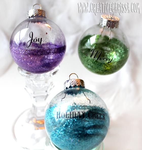 Make Easy Glittered Bulb Ornaments