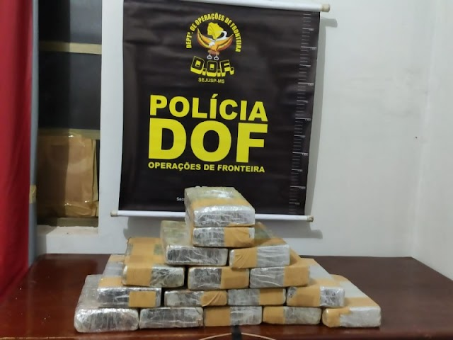 Mundo Novo-Traficantes fogem e deixam mulher com mais de 16 quilos de cocaína