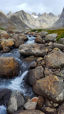A cascading creek in Upper Titcomb Basin of the Wind River Range in Wyoming, USA.