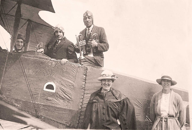 Tara Chand Wazir in Plane, 1921