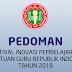 Pedoman Festival Karya Inovasi Pembelajaran Bagi Guru PGRI 2018