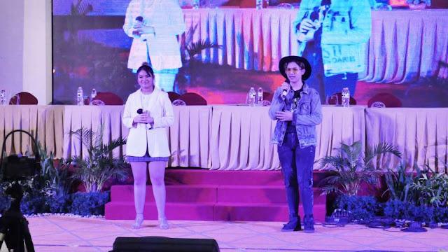 Alex Yunggun feat Bea Serendy saat tampil di acara Press Conference OST Web Series Mimi Mintuno Tresno pada Minggu, 30 Mei 2021 di Yogyakarta. (Dok. Istimewa)
