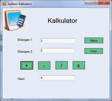 tambah - Tutorial Menciptakan Kalkulator Dengan Visual Studio 2012