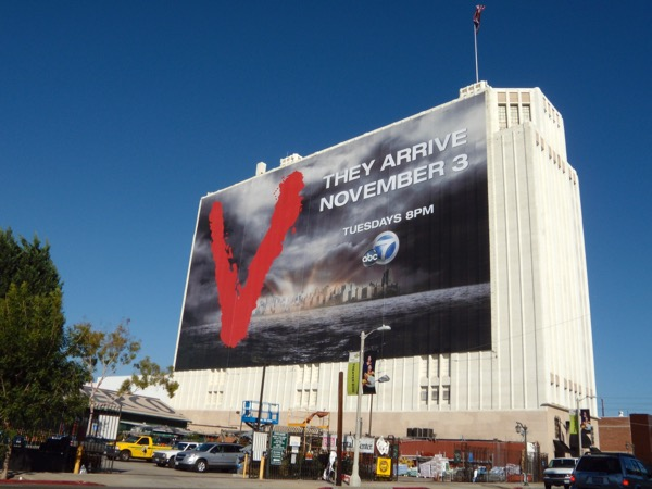 Giant V TV remake billboard