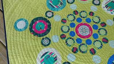 Walking foot quilting in spiral