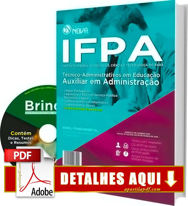 Apostila IFPA 2016 Auxiliar em Administração Impressa