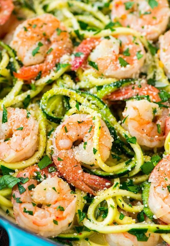 Healthy Shrimp Scampi with Zucchini Noodles #recipes #dinnerrecipes #dinnerideas #easydinnerideas #easydinnerideasfor4 #food #foodporn #healthy #yummy #instafood #foodie #delicious #dinner #breakfast #dessert #yum #lunch #vegan #cake #eatclean #homemade #diet #healthyfood #cleaneating #foodstagram