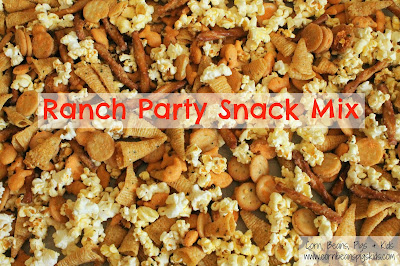 Back to School Snack Mix Recipes - Ranch Party Snack Mix