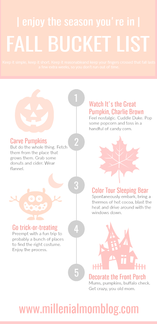 fall bucket list for moms