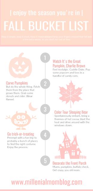 fall bucket list for moms