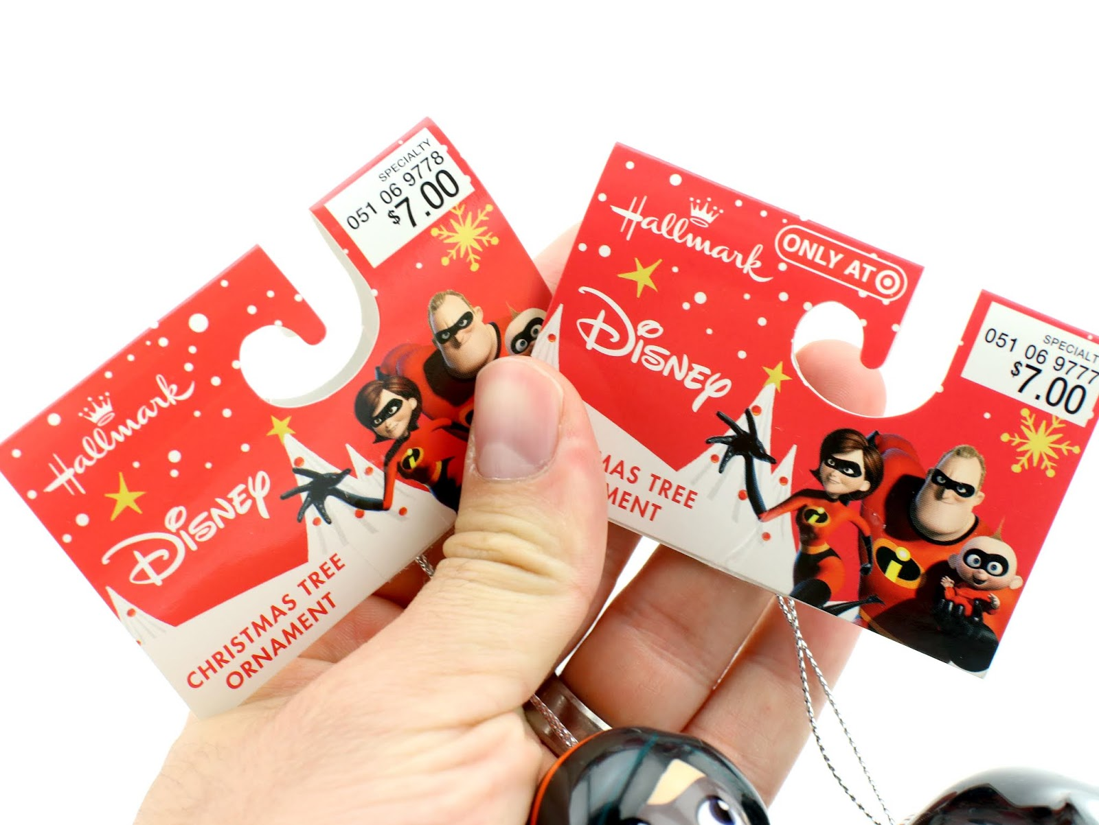 incredibles 2 hallmark target decoupage ornaments