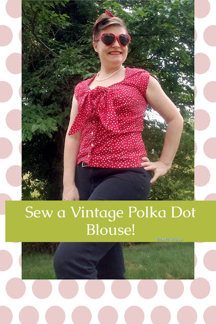 how to sew a vintage pinup style short sleeve blouse
