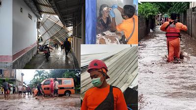 Cuaca Ekstrem, TRC BPBD Lotim Tangani Dua Bencana Dalam Sehari