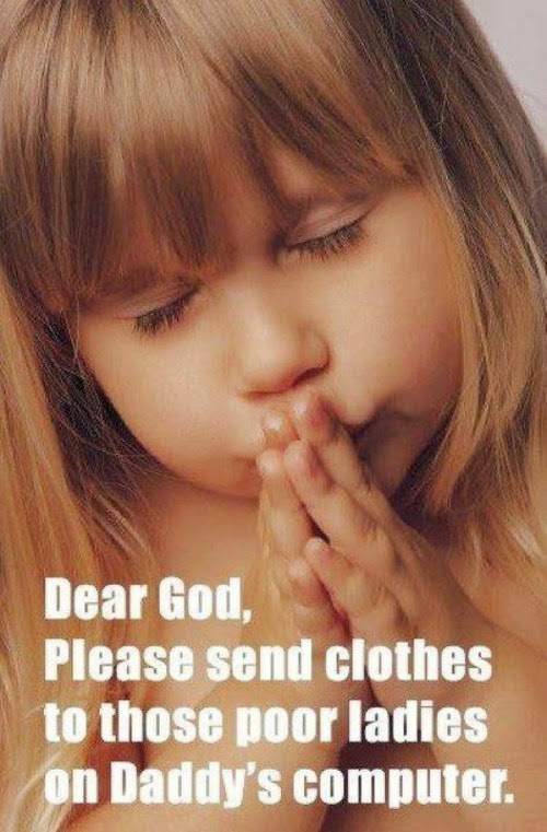 little girl praying for clothes for porn stars funny