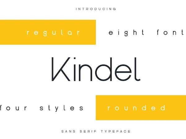 Kindel - Sans Serif Typeface Free Download