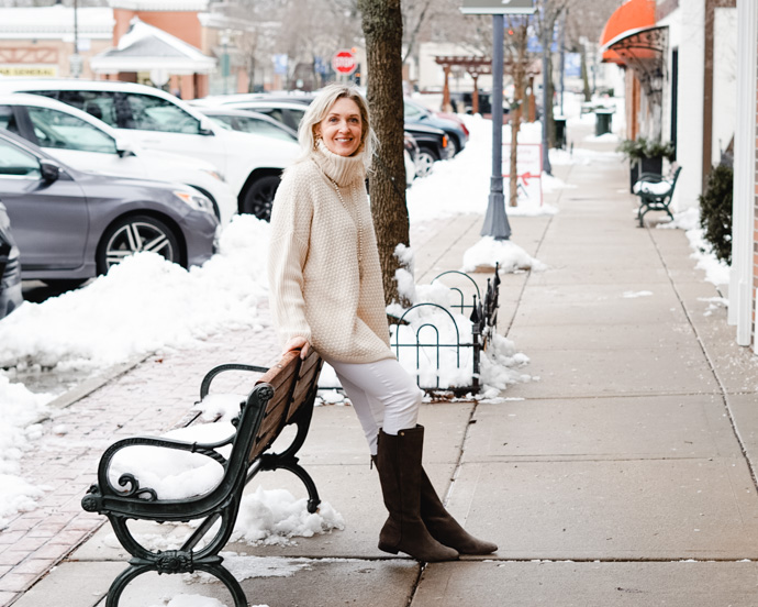 How to Wear White in Winter + TFF Linkup!