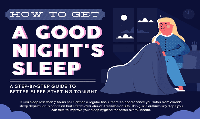How To Get A Good Night's Sleep #infographic
