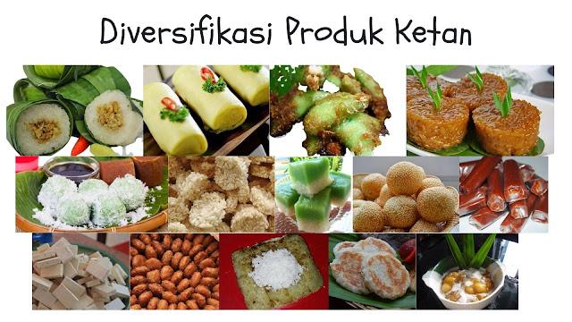 diversifikasi produk ketan