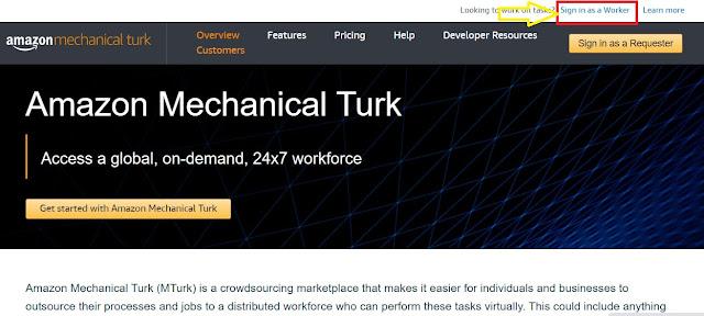 كيفية التسجيل في Amazon Mechanical Turk