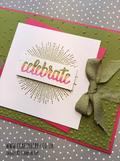 Create this bright Melon Mambo card using the Amazing You stamp set by Stampin' Up!
