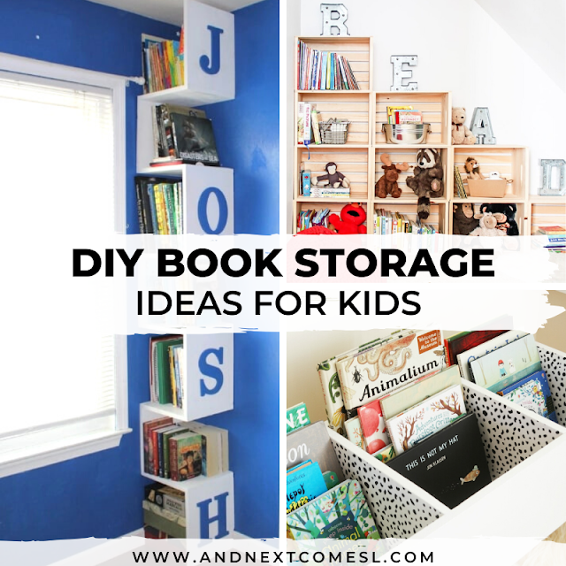 Spice up your kids' reading corners with these DIY book storage ideas