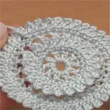 Motivo redondo a Crochet