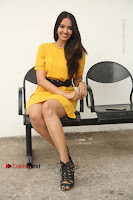 Actress Poojitha Stills in Yellow Short Dress at Darshakudu Movie Teaser Launch .COM 0206.JPG